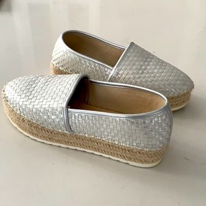 Wedge canvas slip on shoes